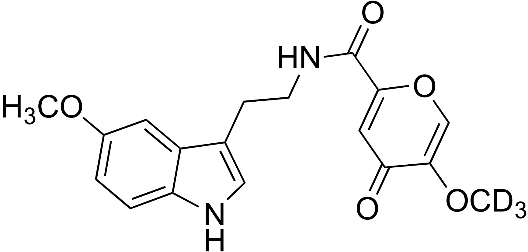 N-[2-(5-Methoxy-indol-3-yl)-ethyl]-2-methoxy-d<sub>3</sub>-commenamide