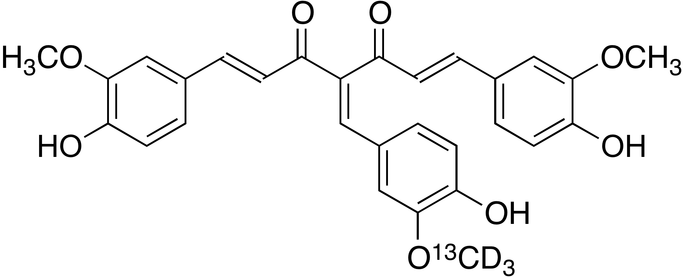 4-(4-Hydroxy-3-methoxy-<sup>13</sup>C, d<sub>3</sub>-benzylidene)curcumin