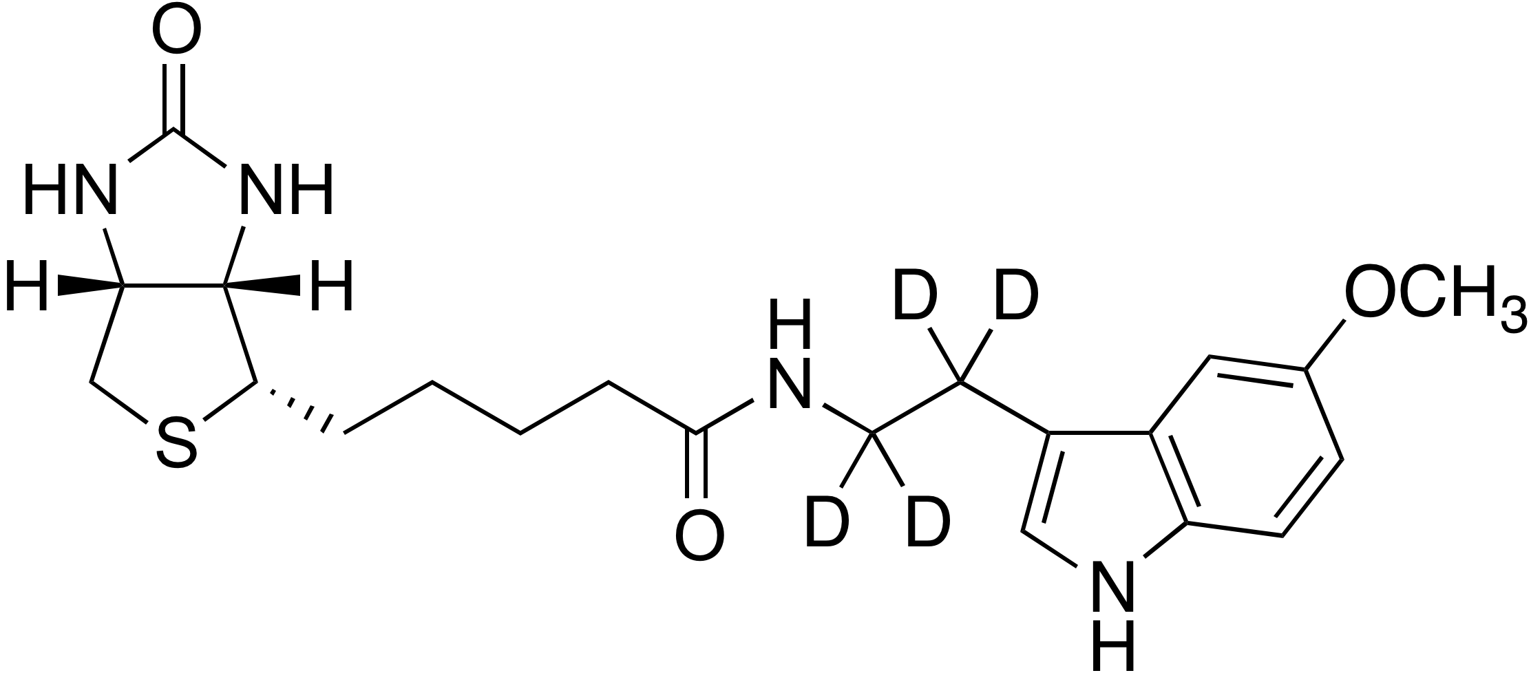 N-Biotinyl-5-methoxytryptamine-d<sub>4</sub>