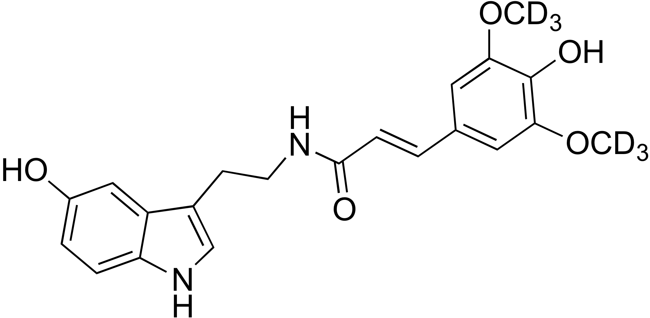 N-Sinapoyl-d<sub>6</sub> serotonin