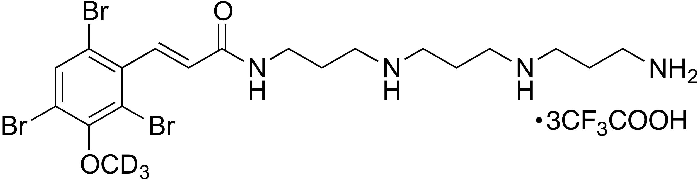(E)-N-(3-((3-((3-Aminopropyl)amino)propyl)amino)propyl)-3-(2,4,6-tribromo-3-methoxy-d<sub>3</sub>-phenyl)acrylamide trifluoroacetate (1:3)