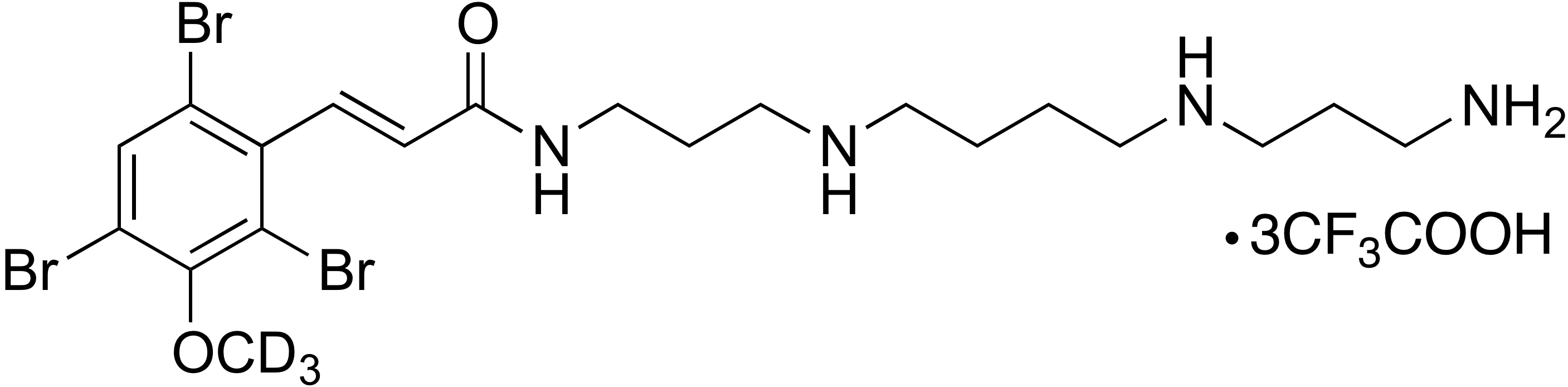 (E)-N-(3-((4-((3-Aminopropyl)amino)butyl)amino)propyl)-3-(2,4,6-tribromo-3-methoxy-d<sub>3</sub>-phenyl)acrylamide trifluoroacetate (1:3)