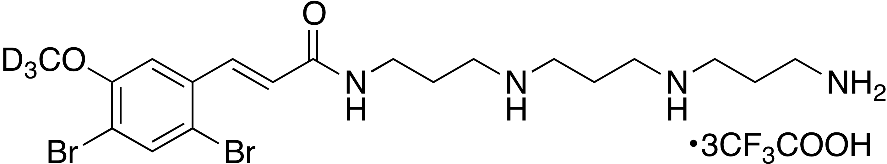 (E)-N-(3-((3-((3-aminopropyl)amino)propyl)amino)propyl)-3-(2,4-dibromo-5-methoxy-d<sub>3</sub>-phenyl)acrylamide trifluoroacetate (1:3)