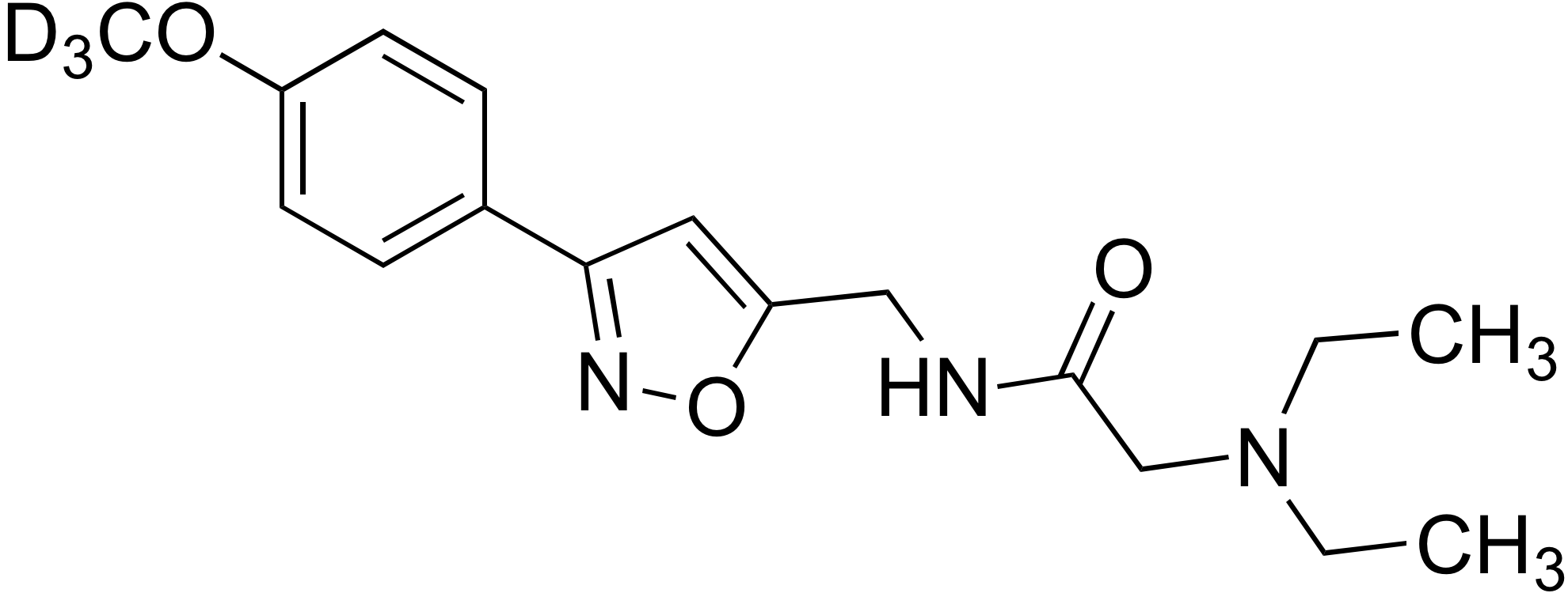 2-(Diethylamino)-N-((3-(4-methoxy-d<sub>3</sub>-phenyl)isoxazol-5-yl)methyl)acetamide