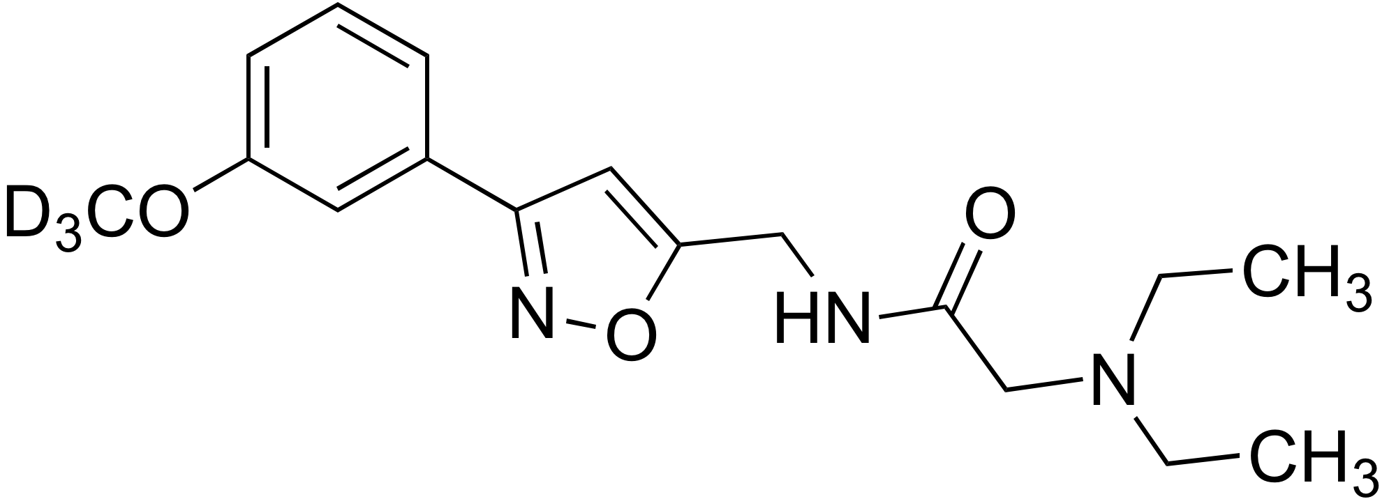 2-(Diethylamino)-N-((3-(3-methoxy-d<sub>3</sub>-phenyl)isoxazol-5-yl)methyl)acetamide