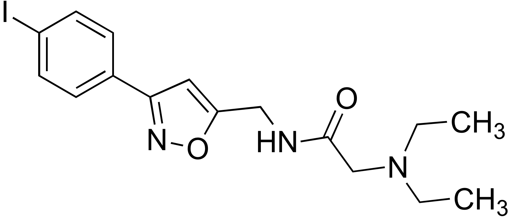 N-((3-(4-Iodophenyl)isoxazol-5-yl)methyl)-2-(diethylamino)ethanamide