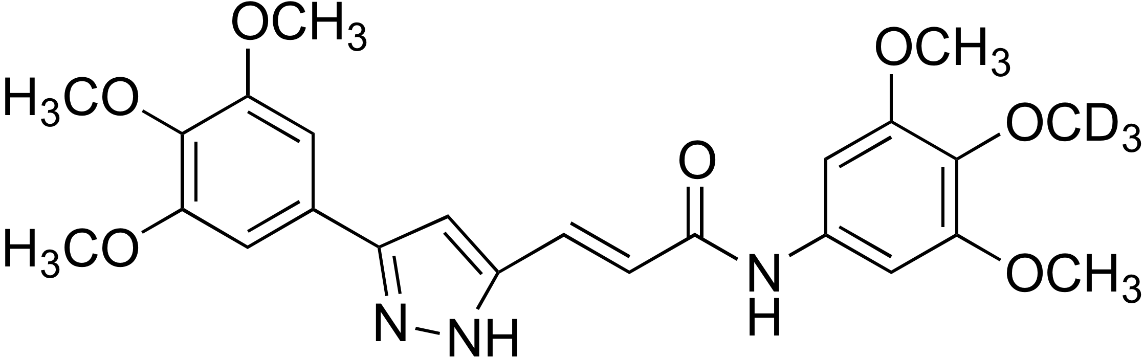 (E)-N-(4-Methoxy-d<sub>3</sub> 3,5-dimethoxyphenyl)-3-(3-(3,4,5-trimethoxyphenyl)-1H-pyrazol-5-yl)acrylamide