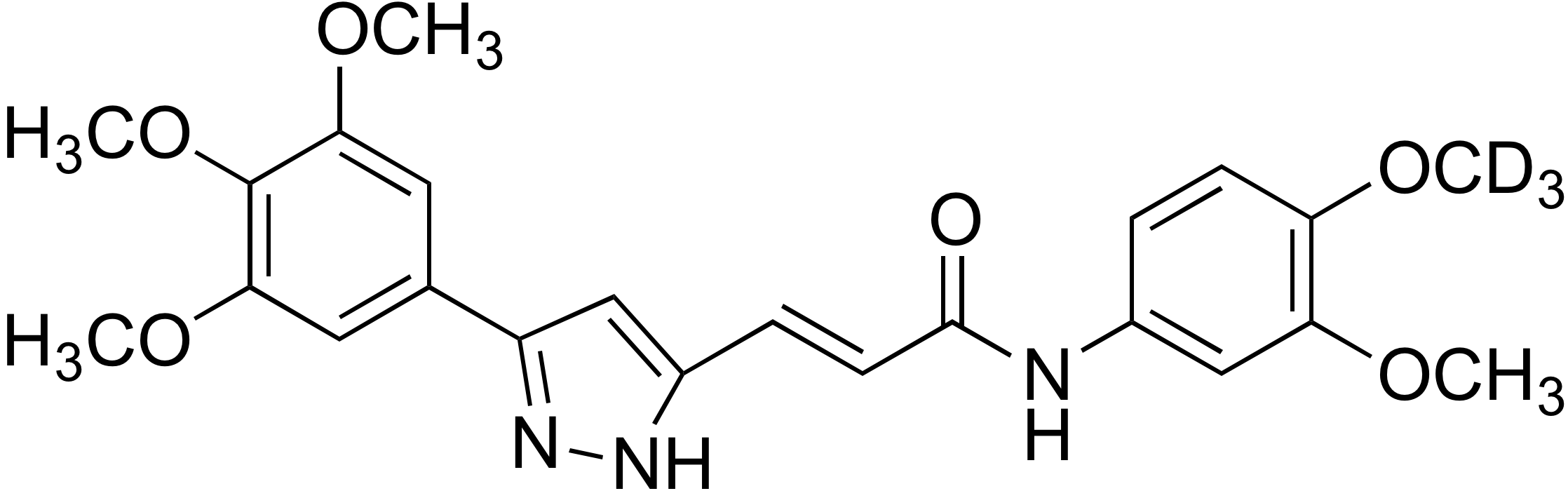 (E)-N-(4-Methoxy-d<sub>3</sub> 3-methoxyphenyl)-3-(3-(3,4,5-trimethoxyphenyl)-1H-pyrazol-5-yl)acrylamide