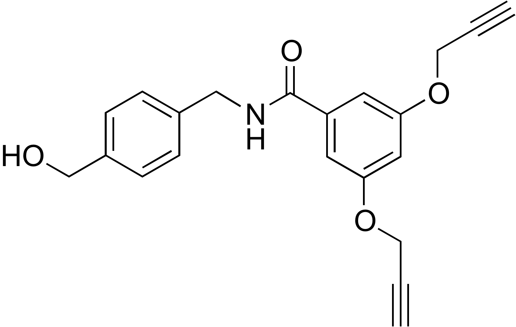 N-(4-(Hydroxymethyl)benzyl)-3,5-bis(prop-2-yn-1-yloxy)benzamide