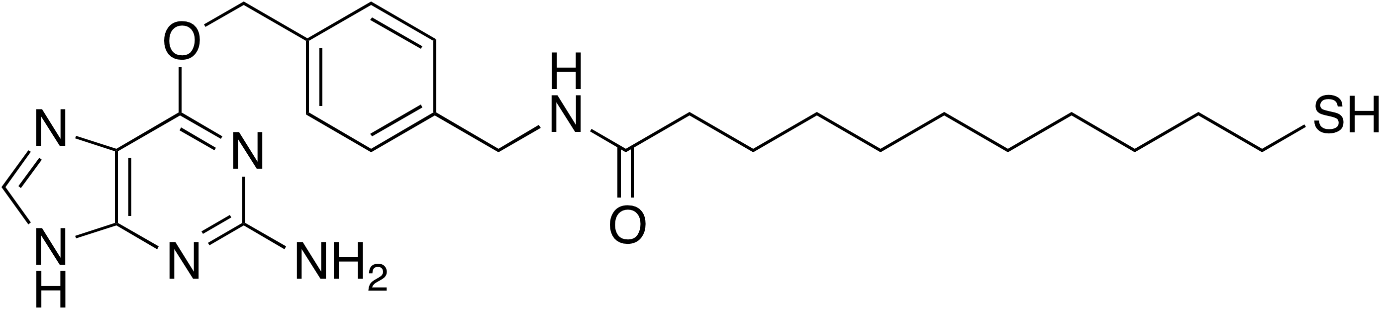 N-[4-(2-Amino-9H-purine-6-oxymethyl)benzyl]-11-mercaptoundecanamide