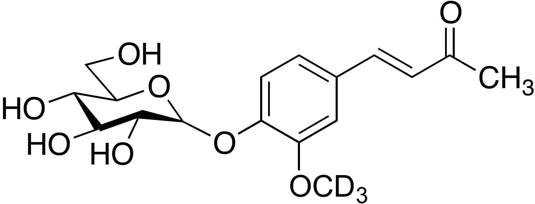 Dehydrozingerone-d<sub>3</sub> 4-O-β-D-glucopyranoside