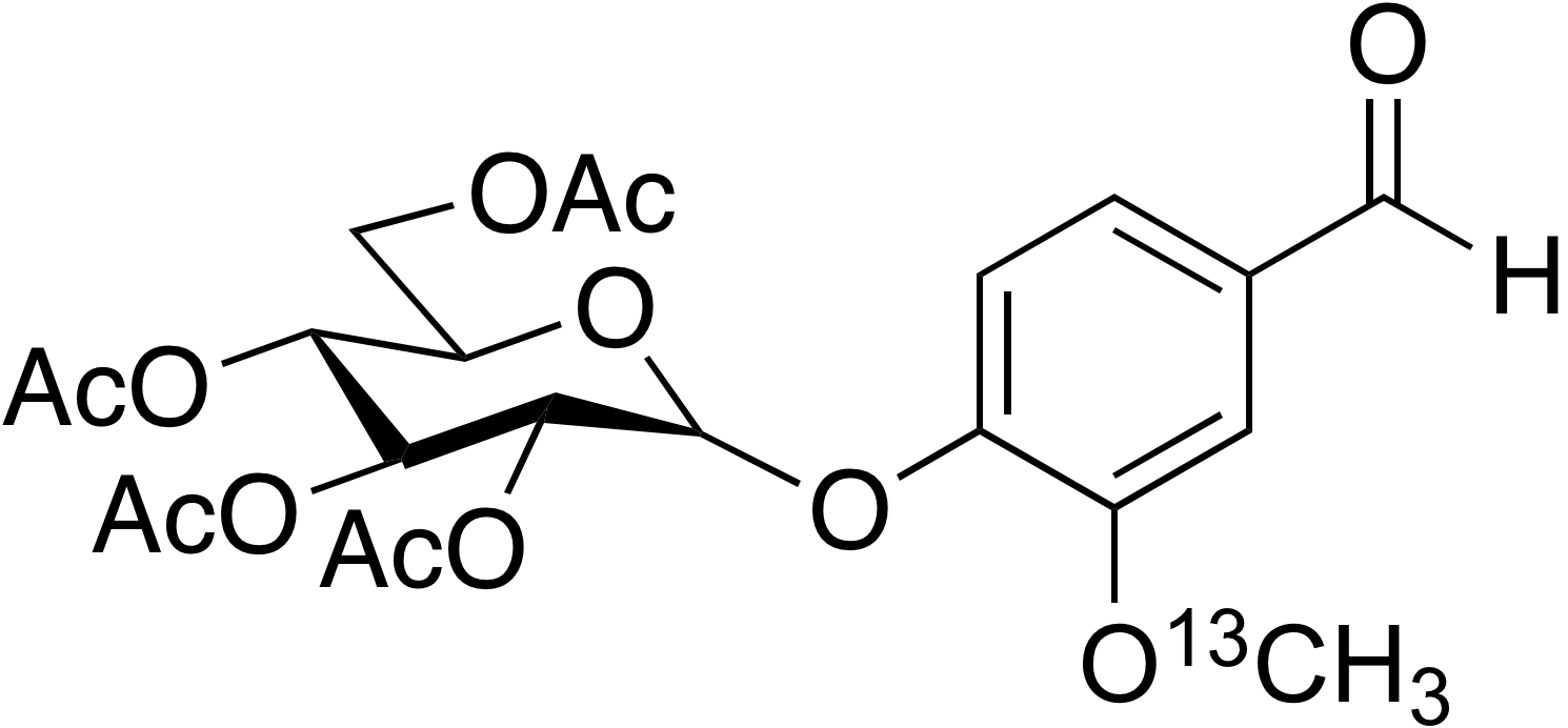 Vanillin-<sup>13</sup>C 2',3',4',6'-O-tetraacetyl-β-D-glucoside