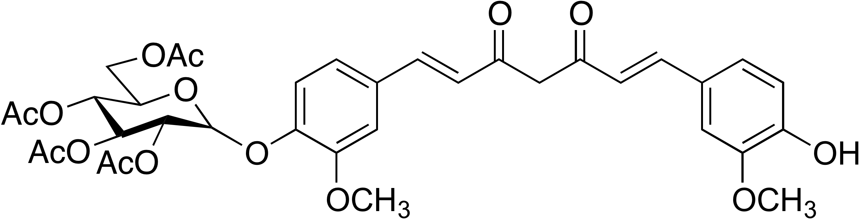 Curcumin-monoglucoside tetraacetate