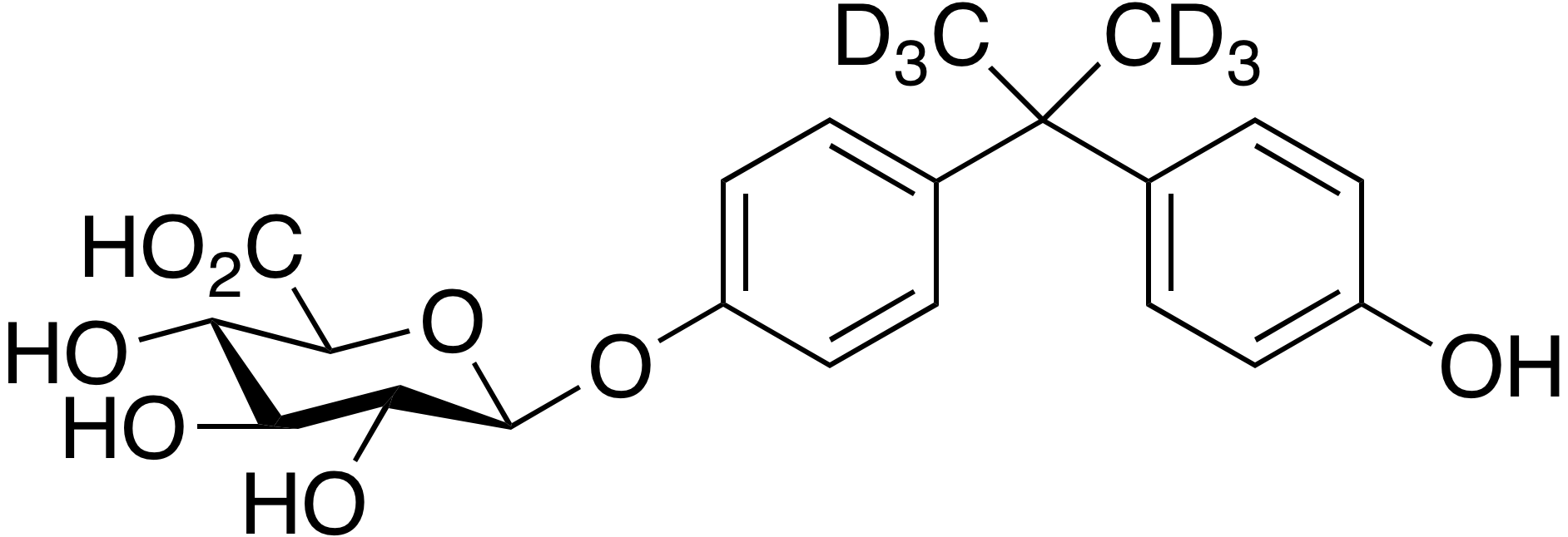 Bisphenol A (dimethyl-d<sub>6</sub>) β-D-glucuronide
