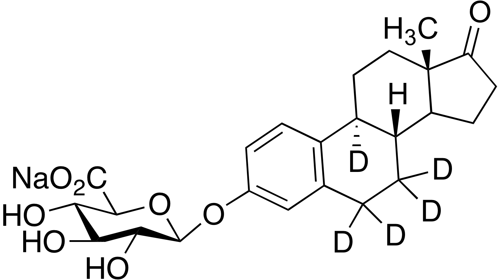 Estrone-d<sub>5</sub> 3-(β-D-glucuronide)sodium salt