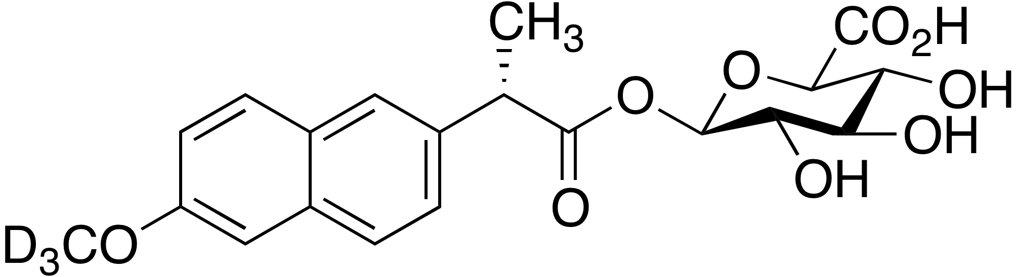(S)-Naproxen-d<sub>3</sub> acyl-β-D-glucuronide