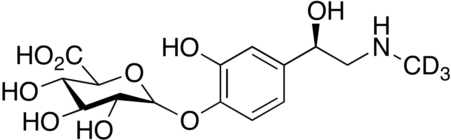 Epinephrine-d<sub>3</sub> glucuronide